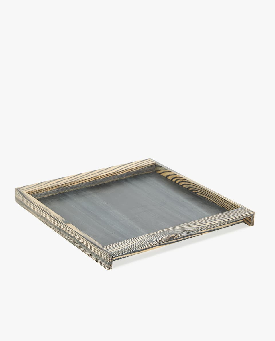 SQUARE WOOD GRAIN EFFECT TRAY