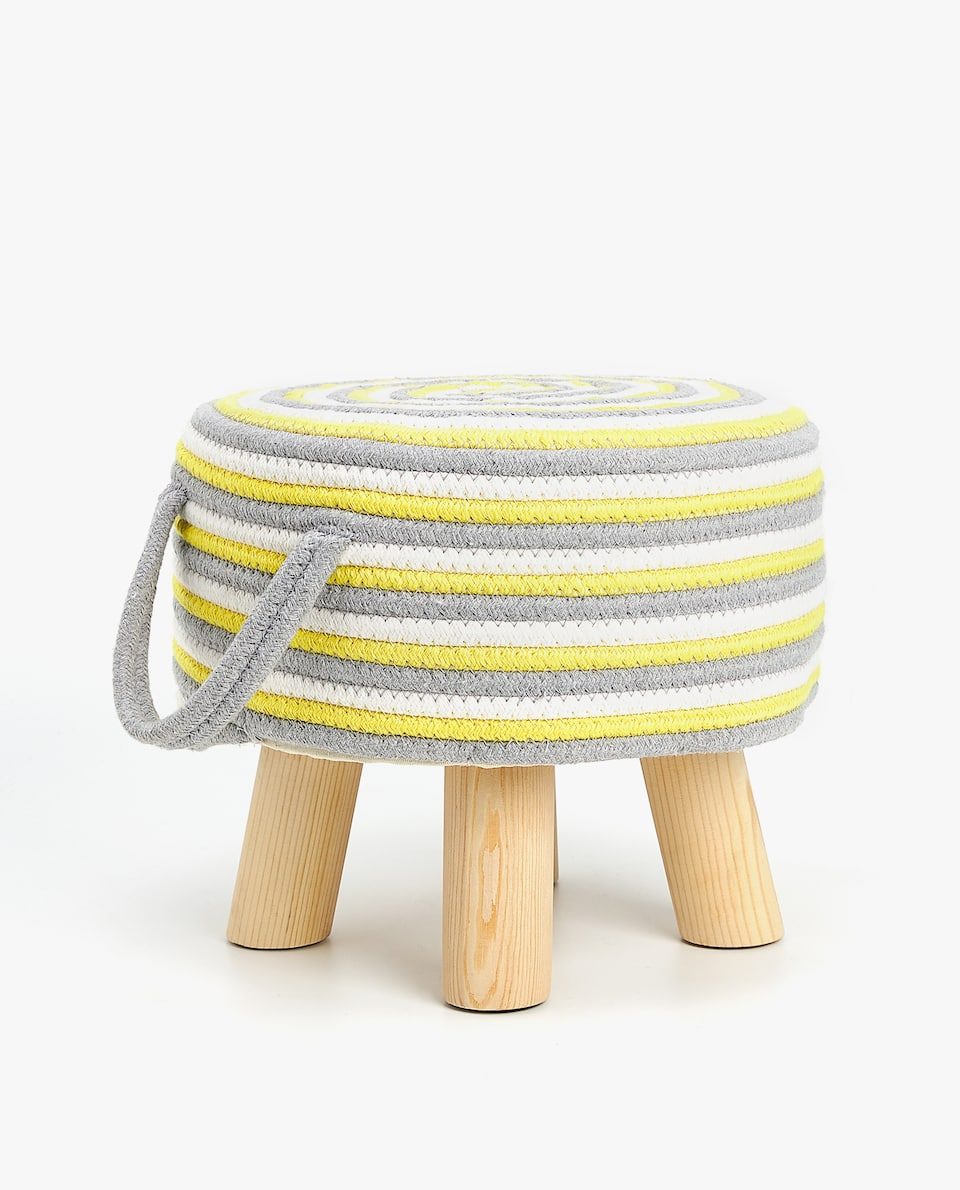 COLOURFUL ROUND POUFFE