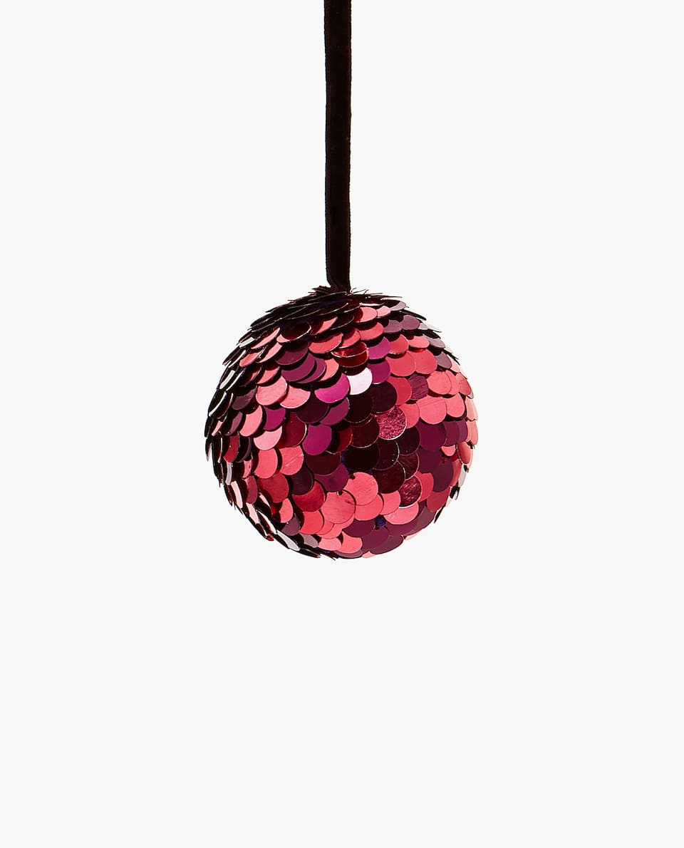 SEQUIN CHRISTMAS TREE BAUBLE