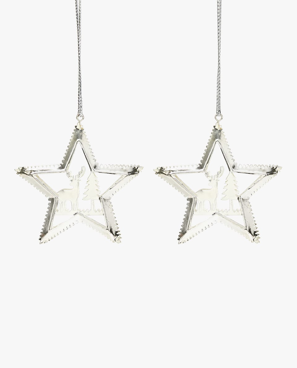 STAR ORNAMENT (PACK OF 2)