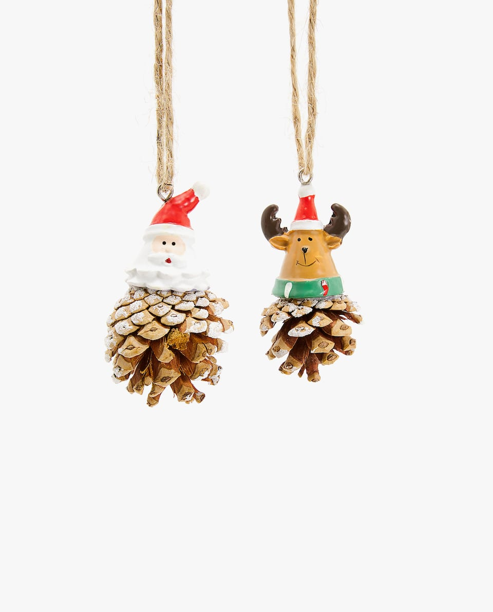 PINE CONE DECORATION (PACK OF 2)