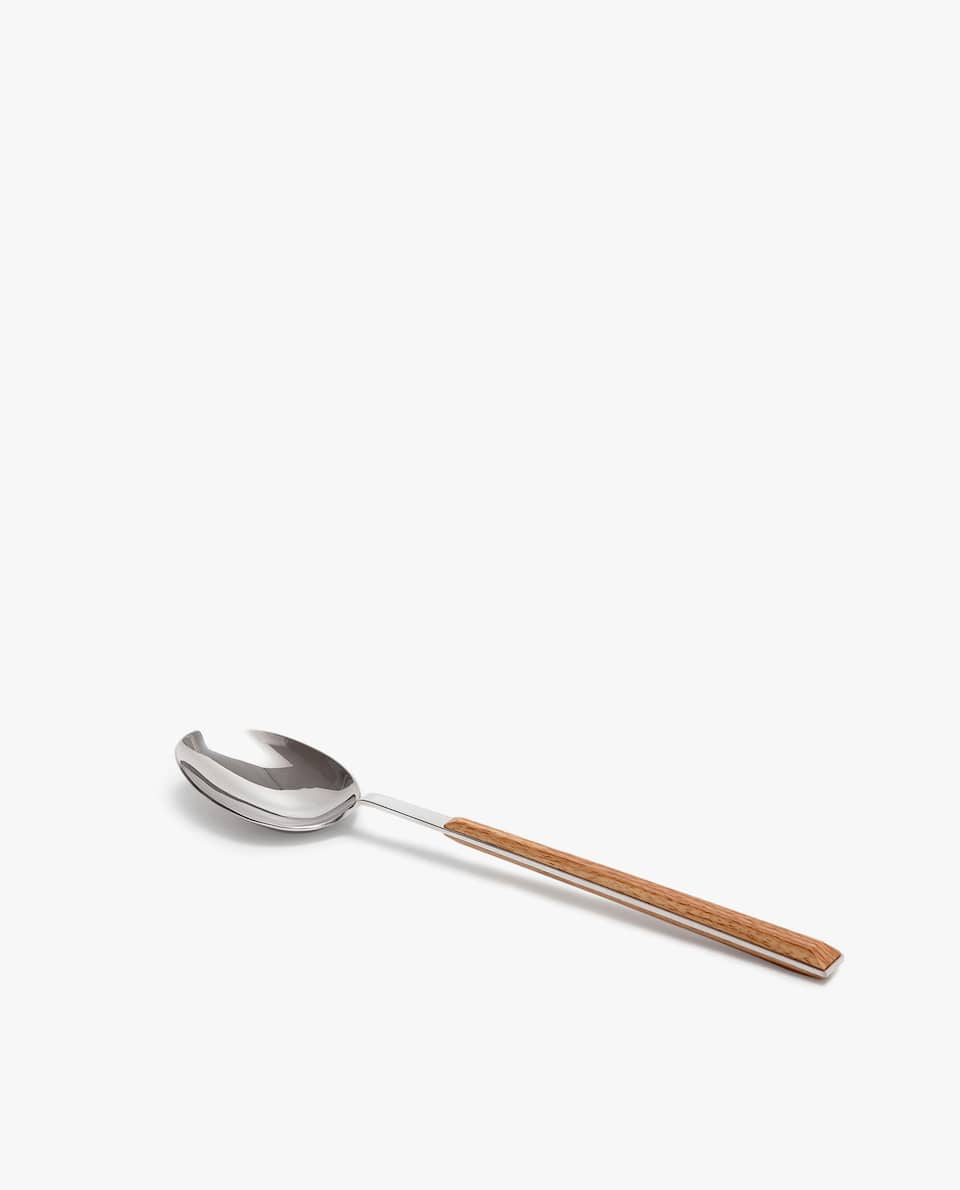 SERVING SPOON WITH WOOD-EFFECT HANDLE
