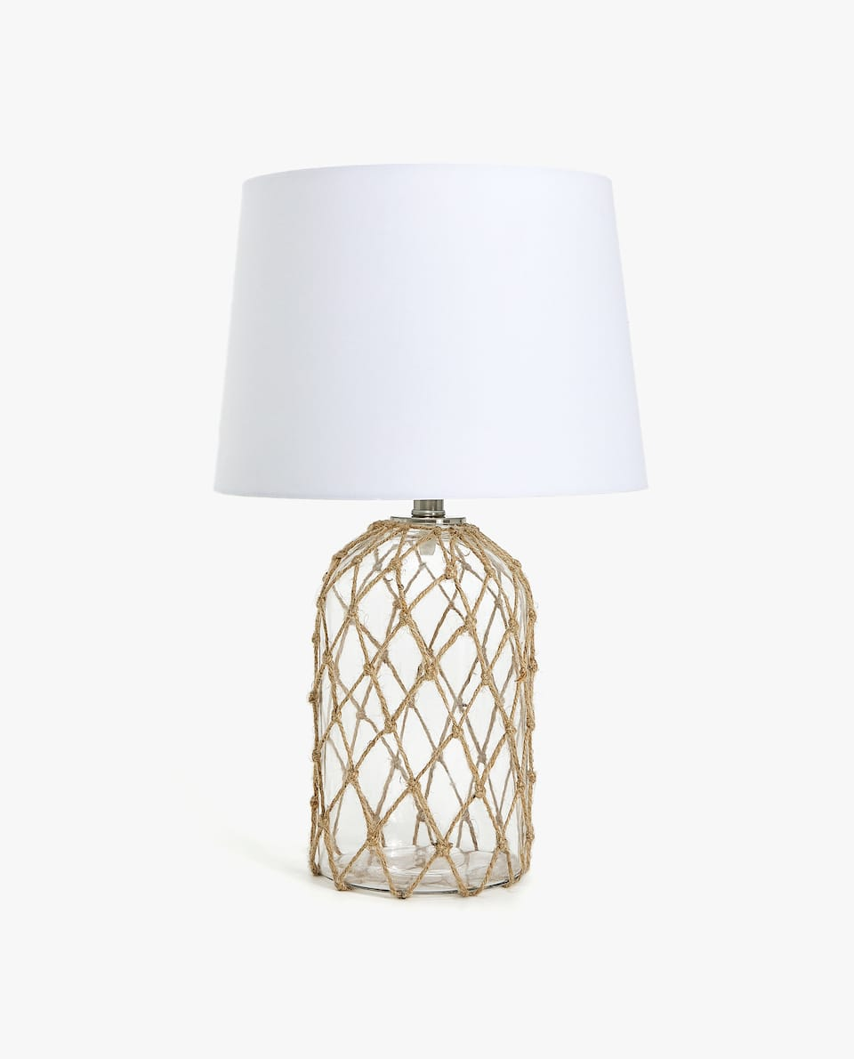 JUTE NET LAMP