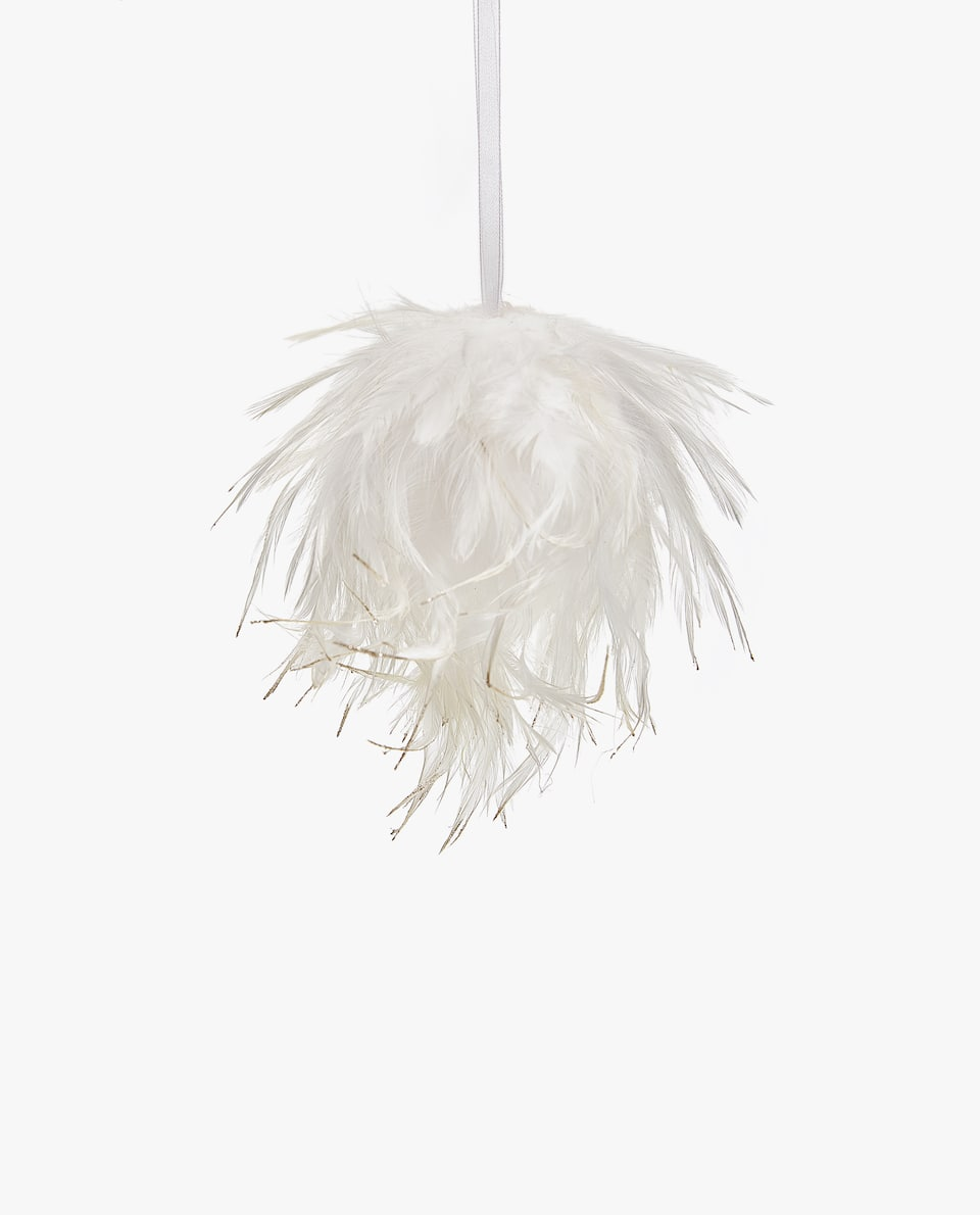 FEATHER CHRISTMAS TREE ORNAMENT