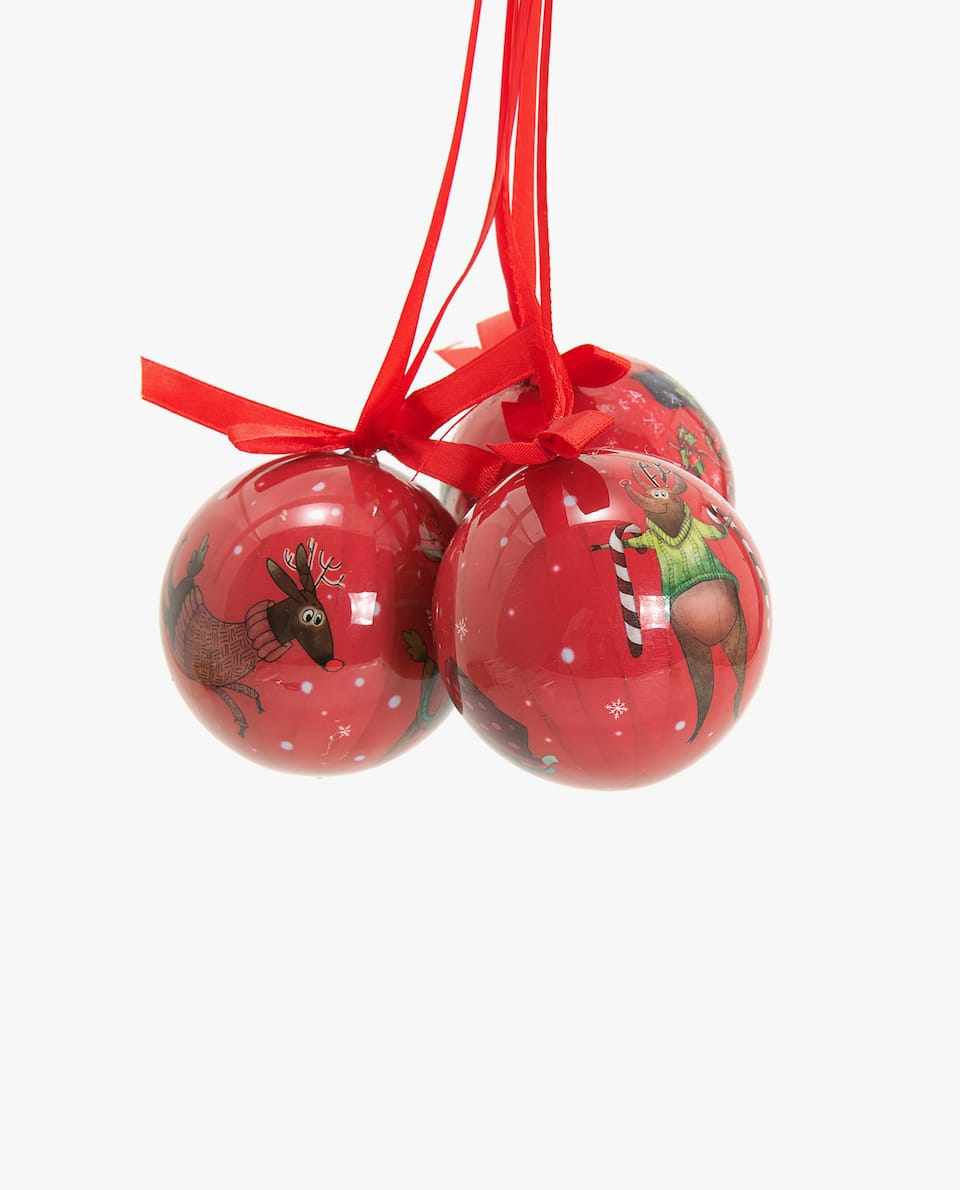 TWO-TONE CHRISTMAS TREE ORNAMENT (PACK OF 3)