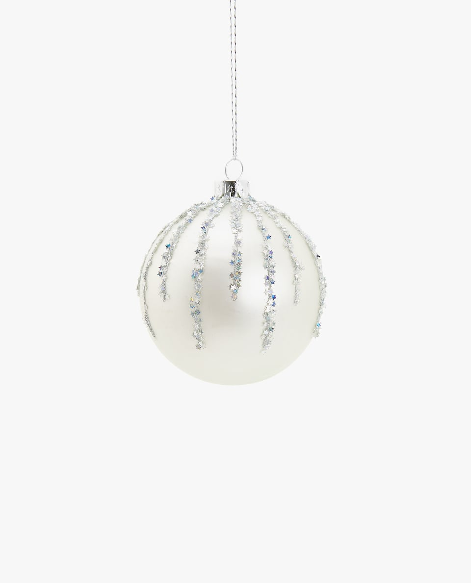 Silver Christmas tree ornament (Pack of 2)