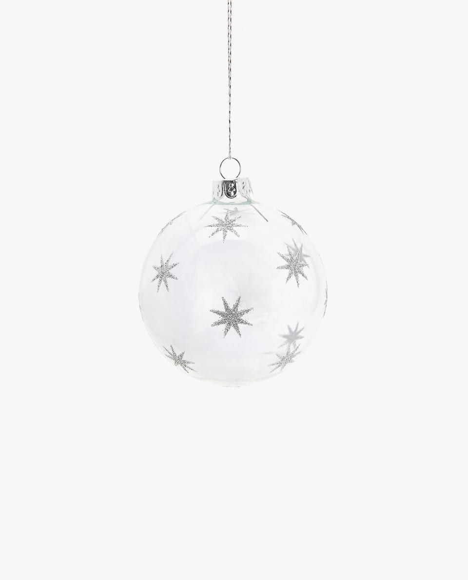 CHRISTMAS TREE BAUBLE WITH FEATHERS (PACK OF 3)