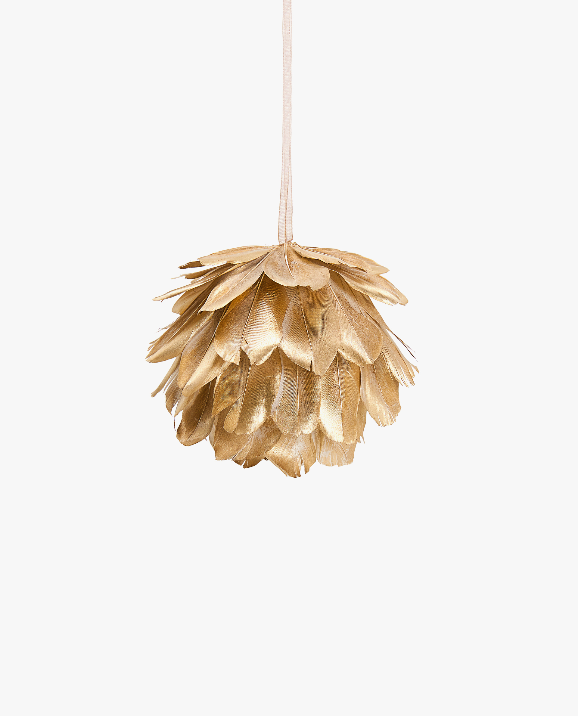 Gold Feather Ball - Zara Home