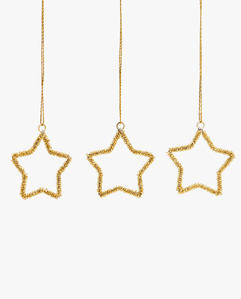 STAR DECORATION (PACK OF 3)