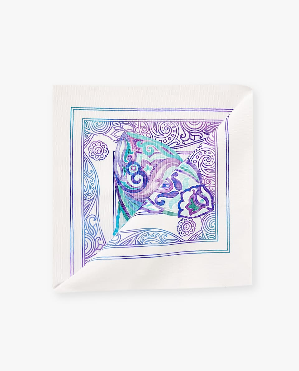 PAISLEY FISH NAPKIN (PACK OF 4)