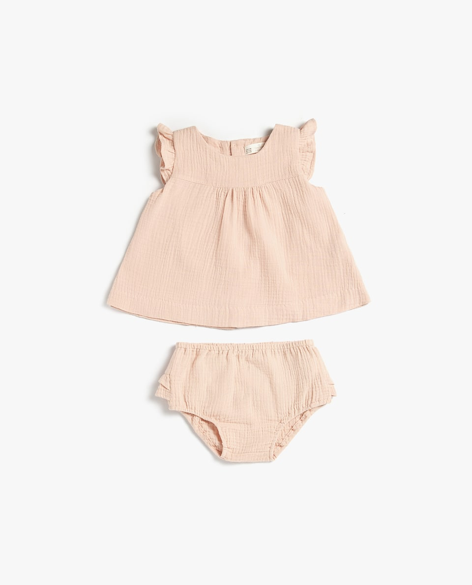 SLEEVELESS DOUBLE CHIFFON BABY SET