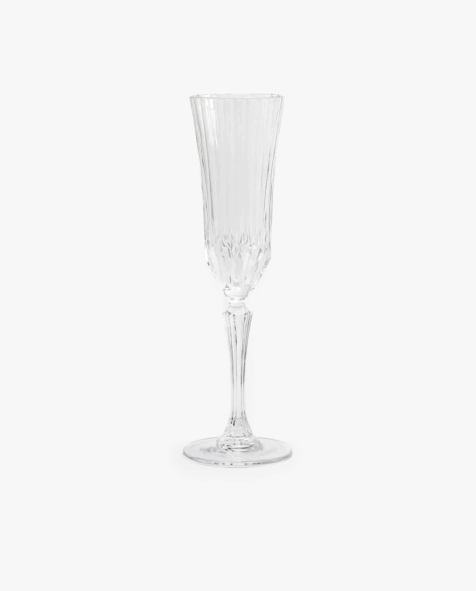 CUT CRYSTALLINE CHAMPAGNE FLUTE