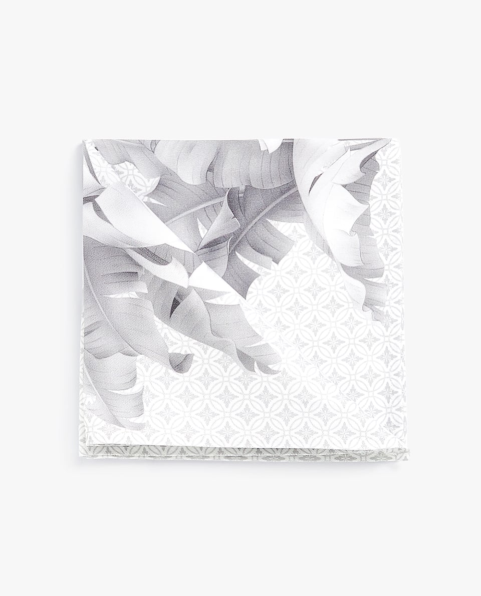 PALM LEAF PRINT NAPKIN (PACK OF 4)