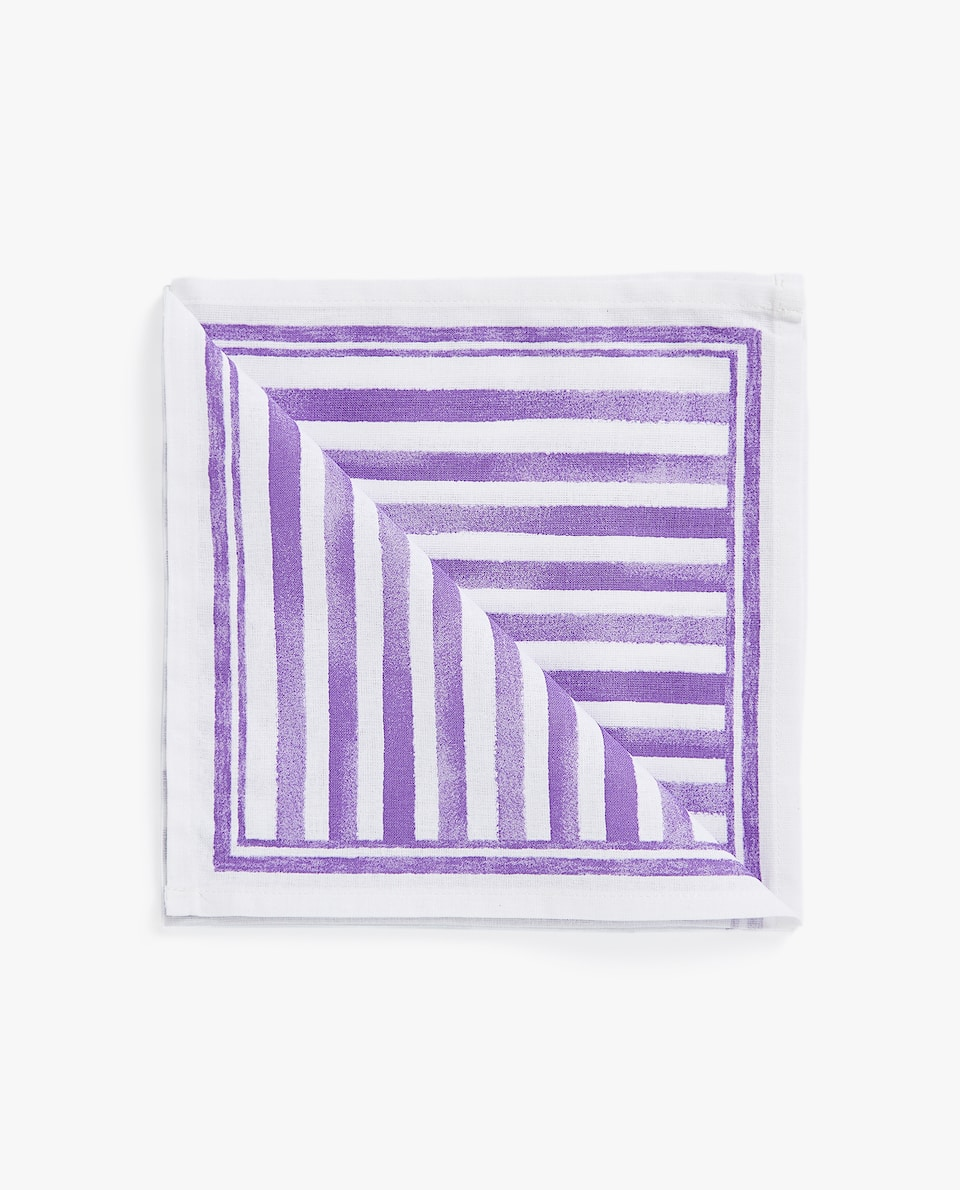 STRIPE PRINT NAPKIN (PACK OF 4)