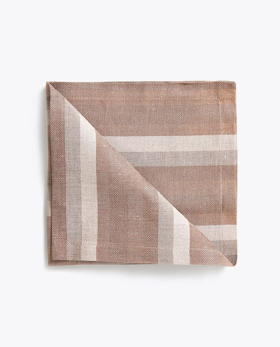 HERRINGBONE STRIPED NAPKIN (PACK OF 4)