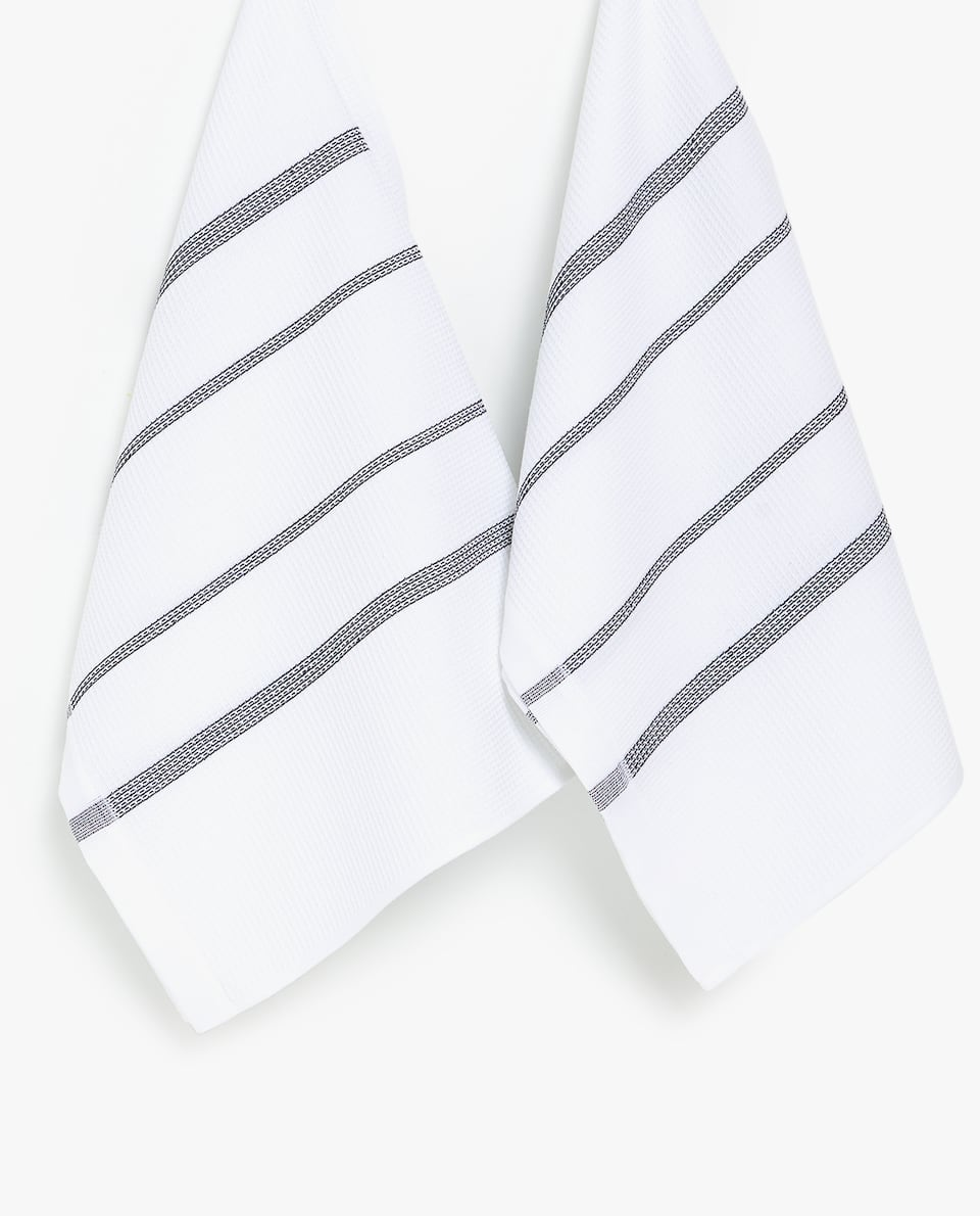 DISH TOWEL WITH LINES (SET OF 2)
