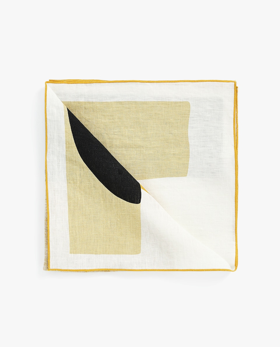 PRINTED LINEN NAPKIN (PACK OF 4)