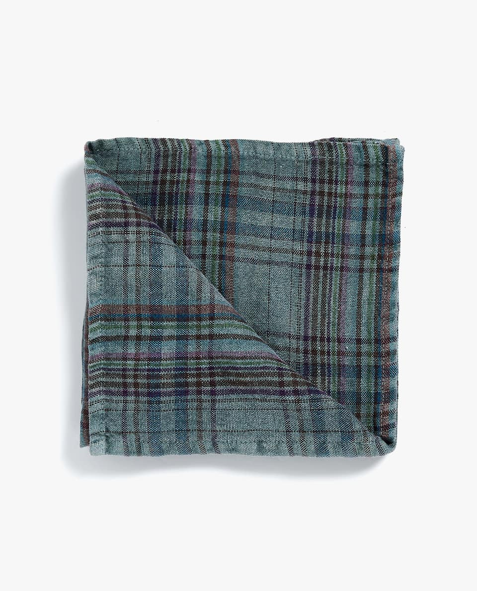 CHECKED NAPKIN (PACK OF 4)