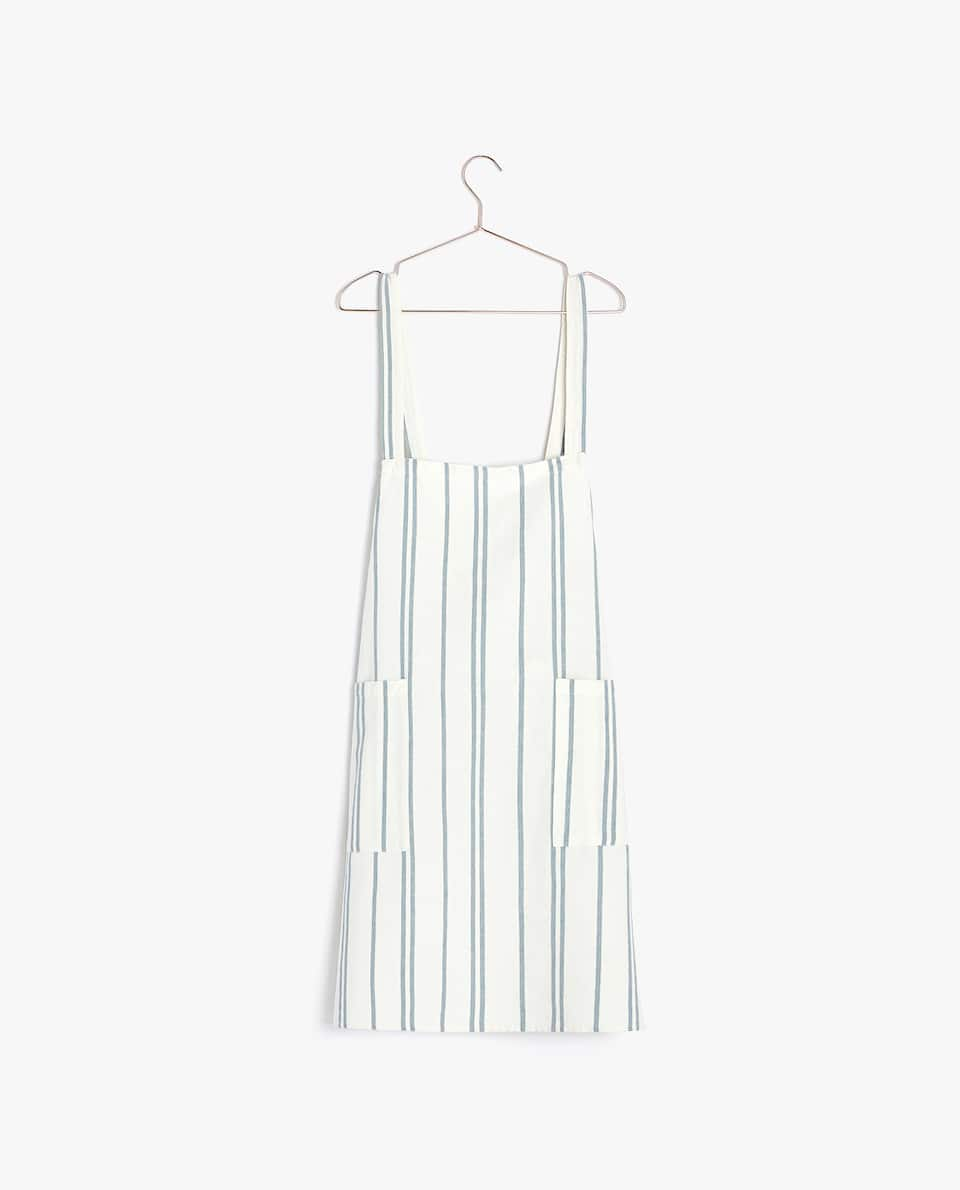 FADED-EFFECT APRON