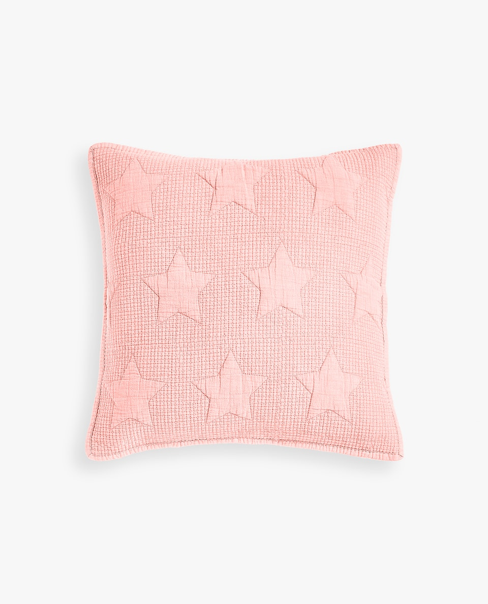 RAISED STARS FADED COTTON CUSHION COVER