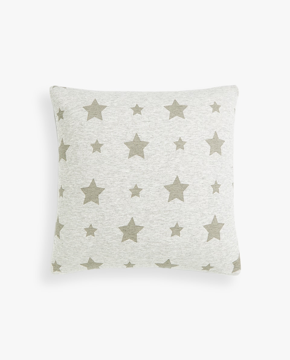 STARS PRINT JERSEY CUSHION COVER