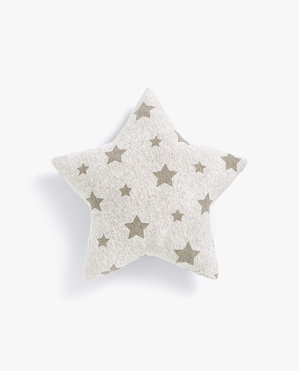 STARS PRINT JERSEY CUSHION