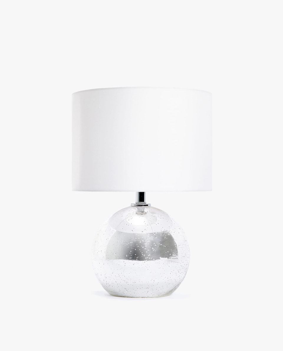 LAMP WITH BUBBLE GLASS BASE