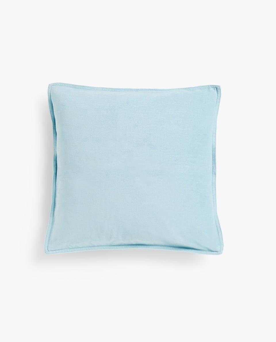 Matte velvet throw pillow cover