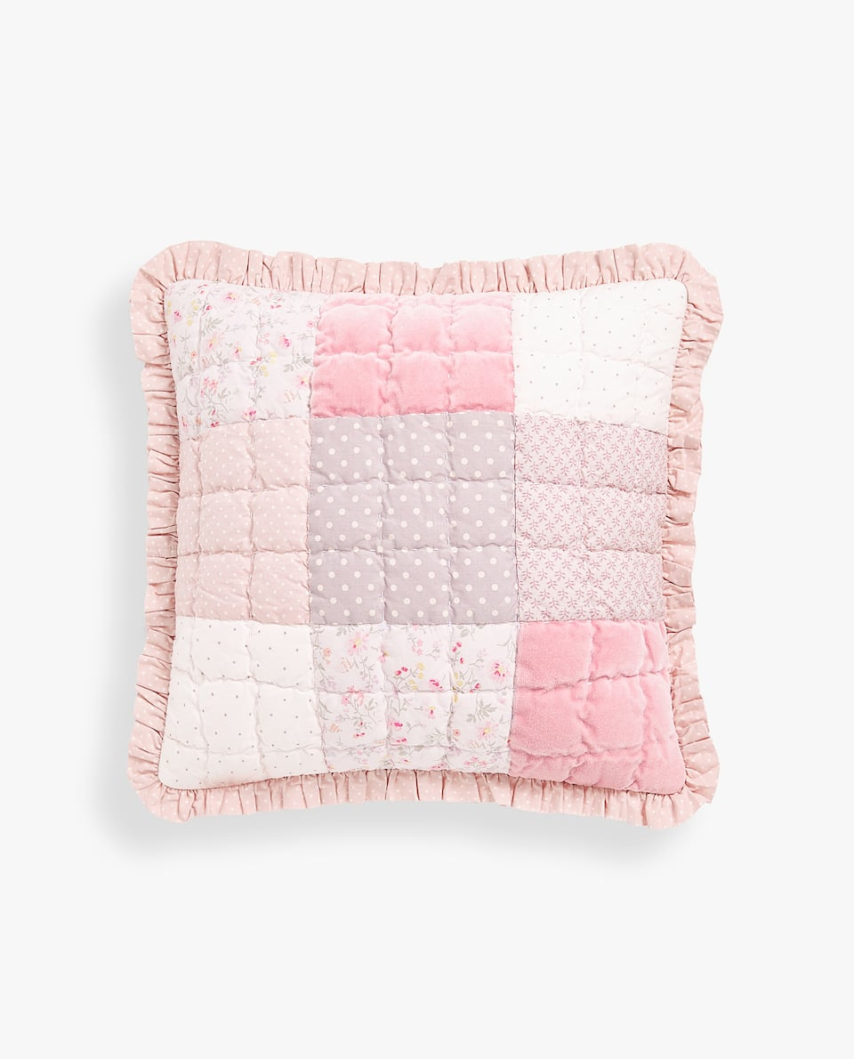PATCHWORK COTTON CUSHION COVER