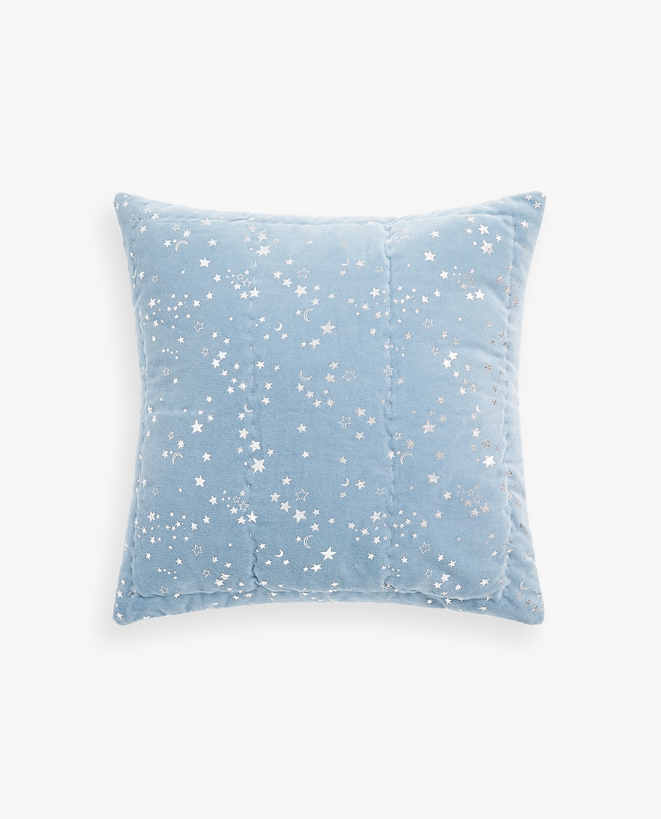 METALLIC PRINT VELVET CUSHION COVER