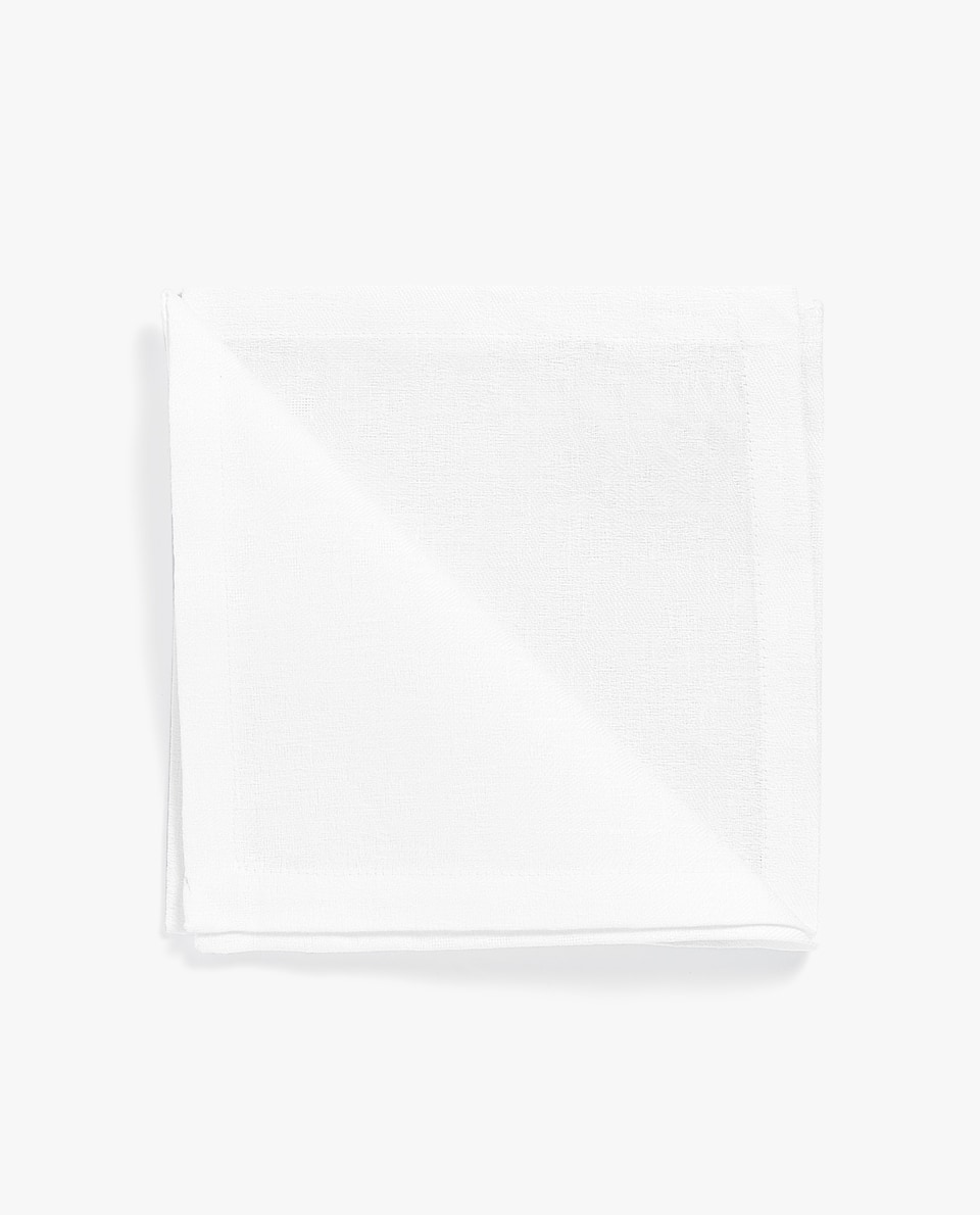 NAPKIN WITH LACE TRIM (PACK OF 4)