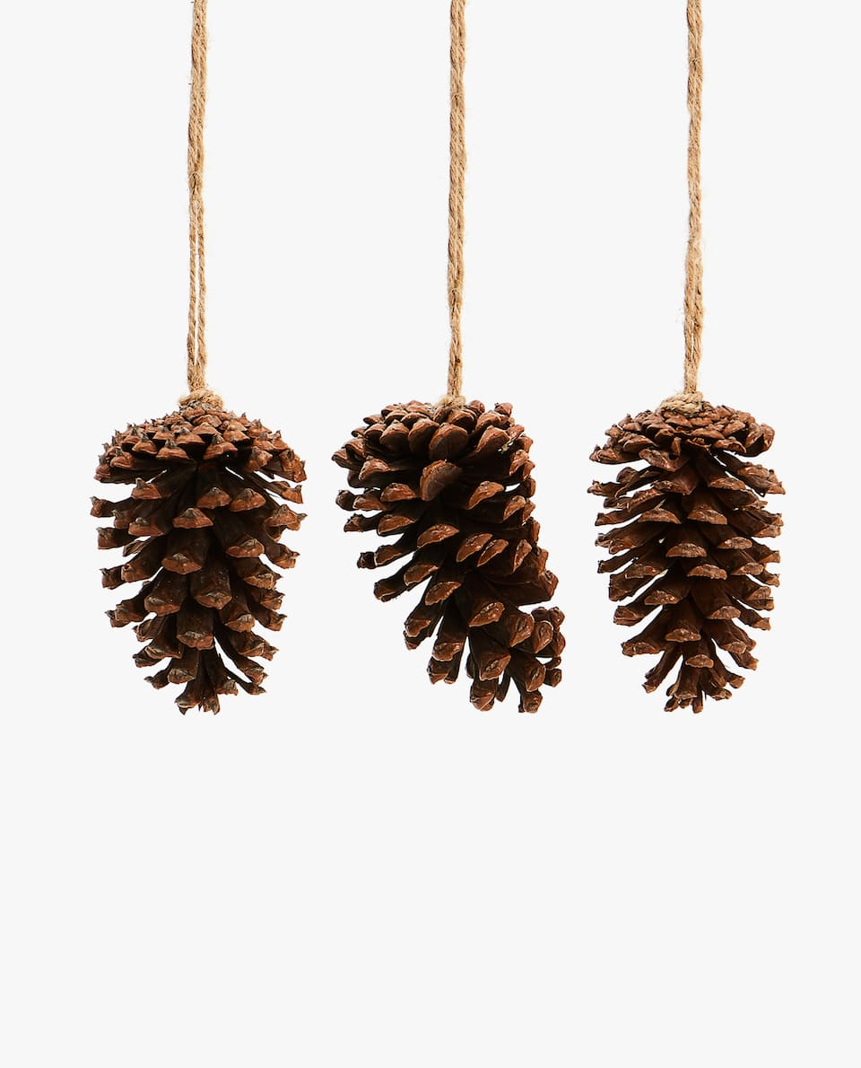 PINE CONE DECORATION (PACK OF 3)