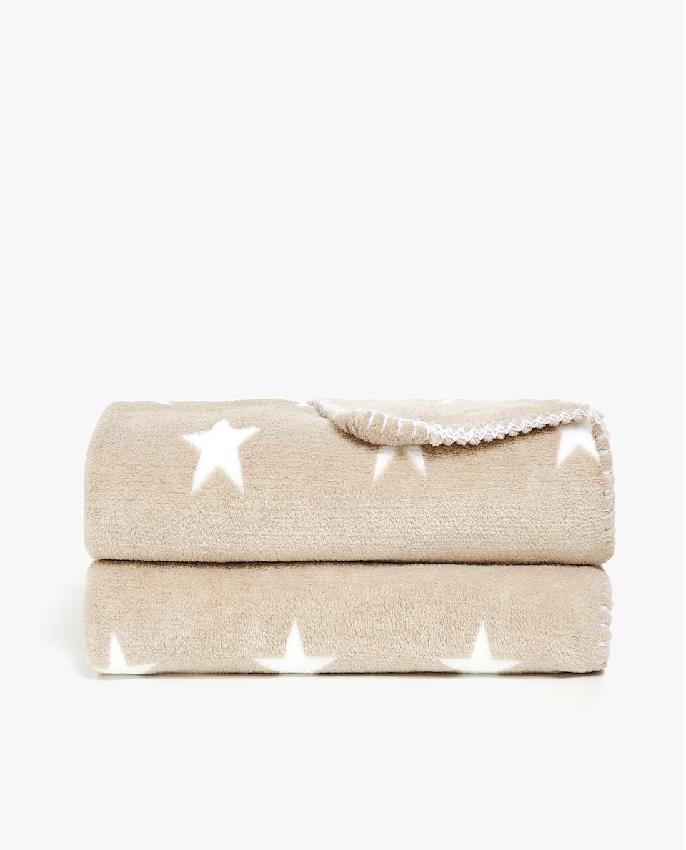 FLEECE BLANKET WITH STARS