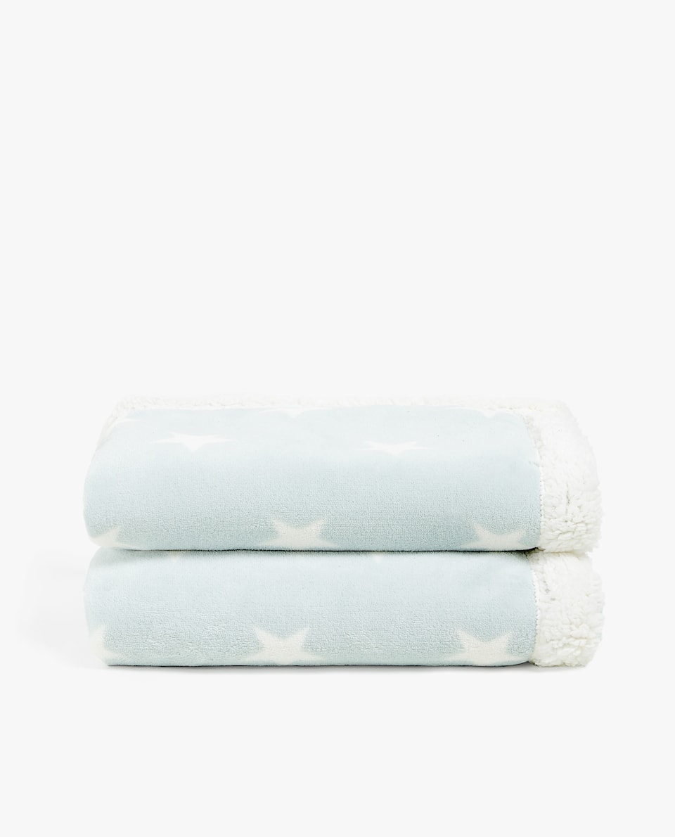 STARS DOUBLE FABRIC BLANKET