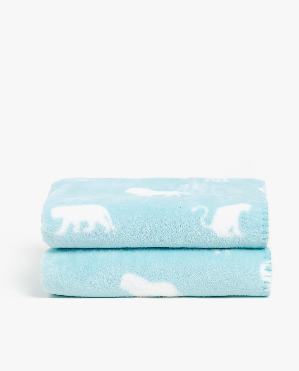 ANIMALS FLEECE BLANKET