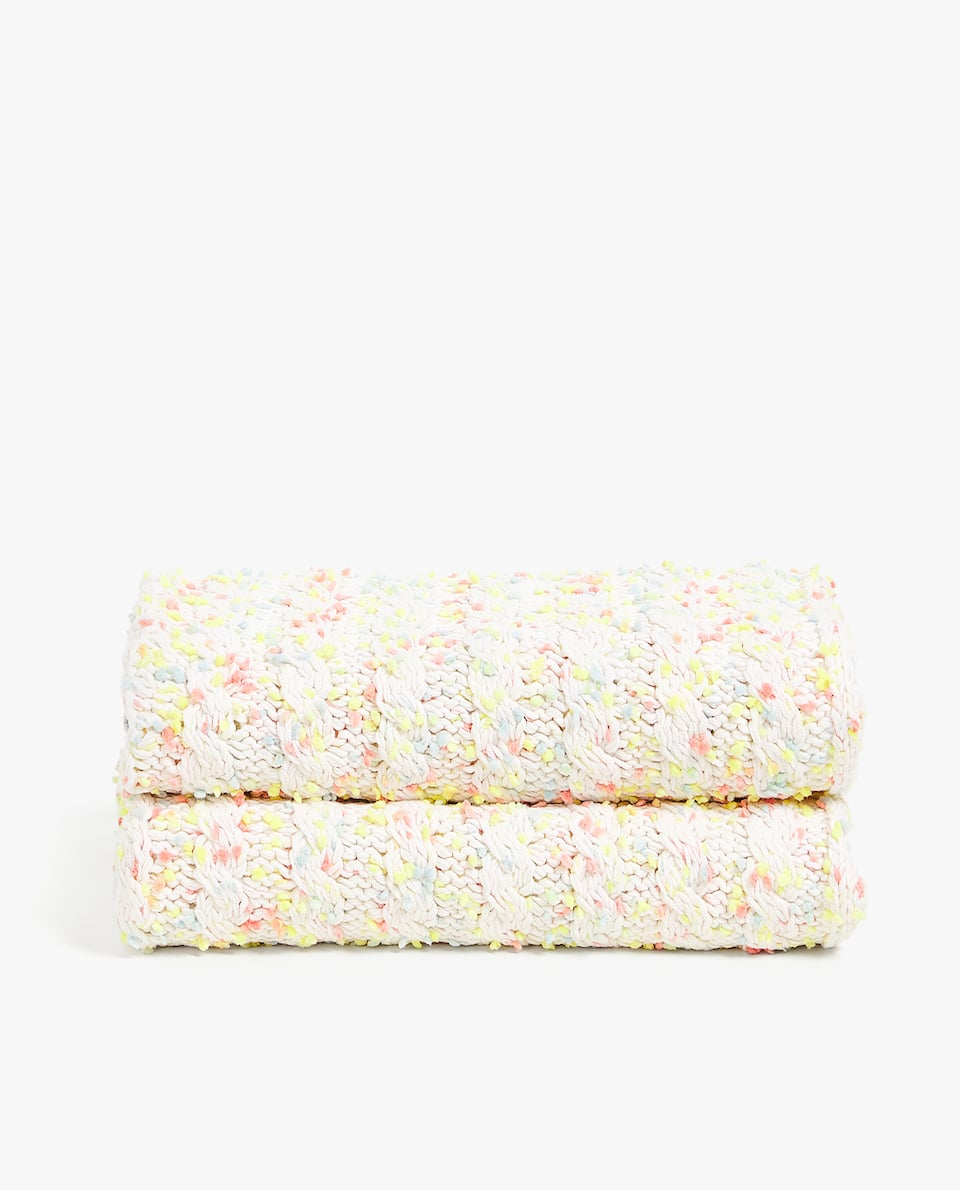 MULTICOLOURED COTTON BLANKET