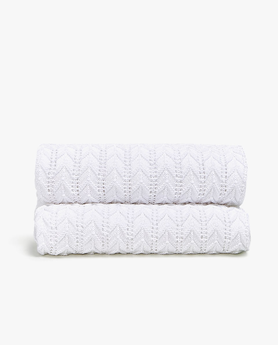 HERRINGBONE KNIT COTTON BLANKET