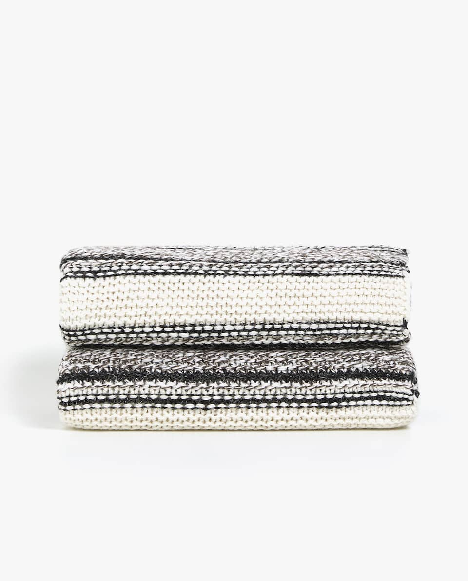 STRIPED KNIT BLANKET