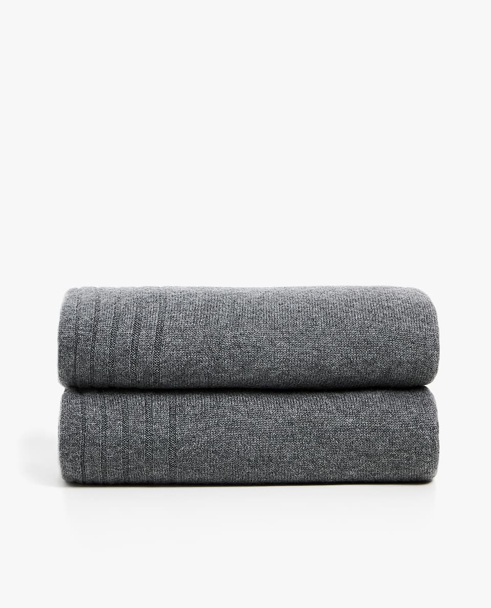 GREY CASHMERE BLANKET