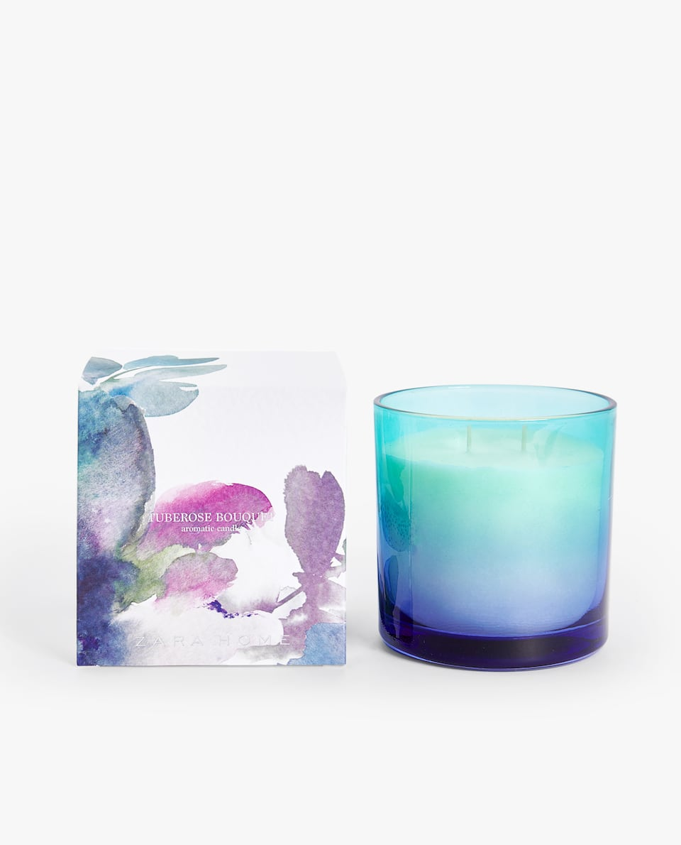 Tuberose Bouquet Cylindrical Candle by Zara Home
