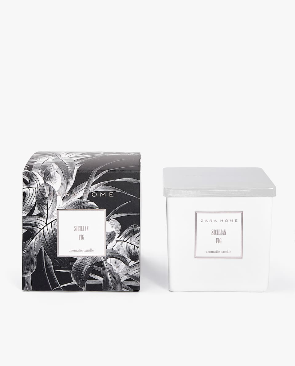 SICILIAN FIG SQUARE CANDLE