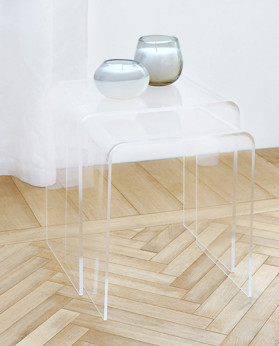 NESTED METHACRYLATE TABLES (SET OF 2)