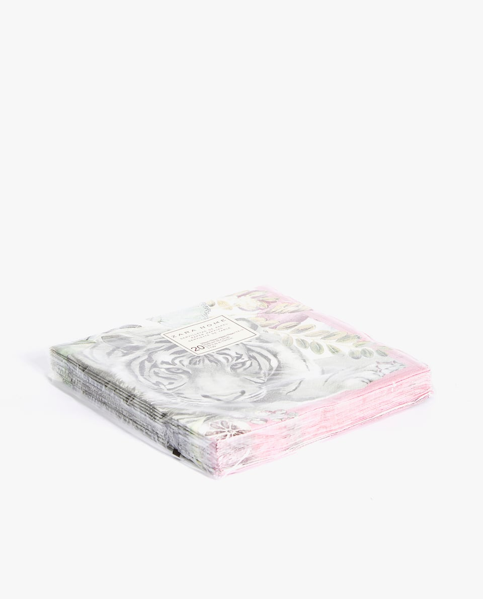 JUNGLE PRINT PAPER NAPKINS (PACK OF 20)