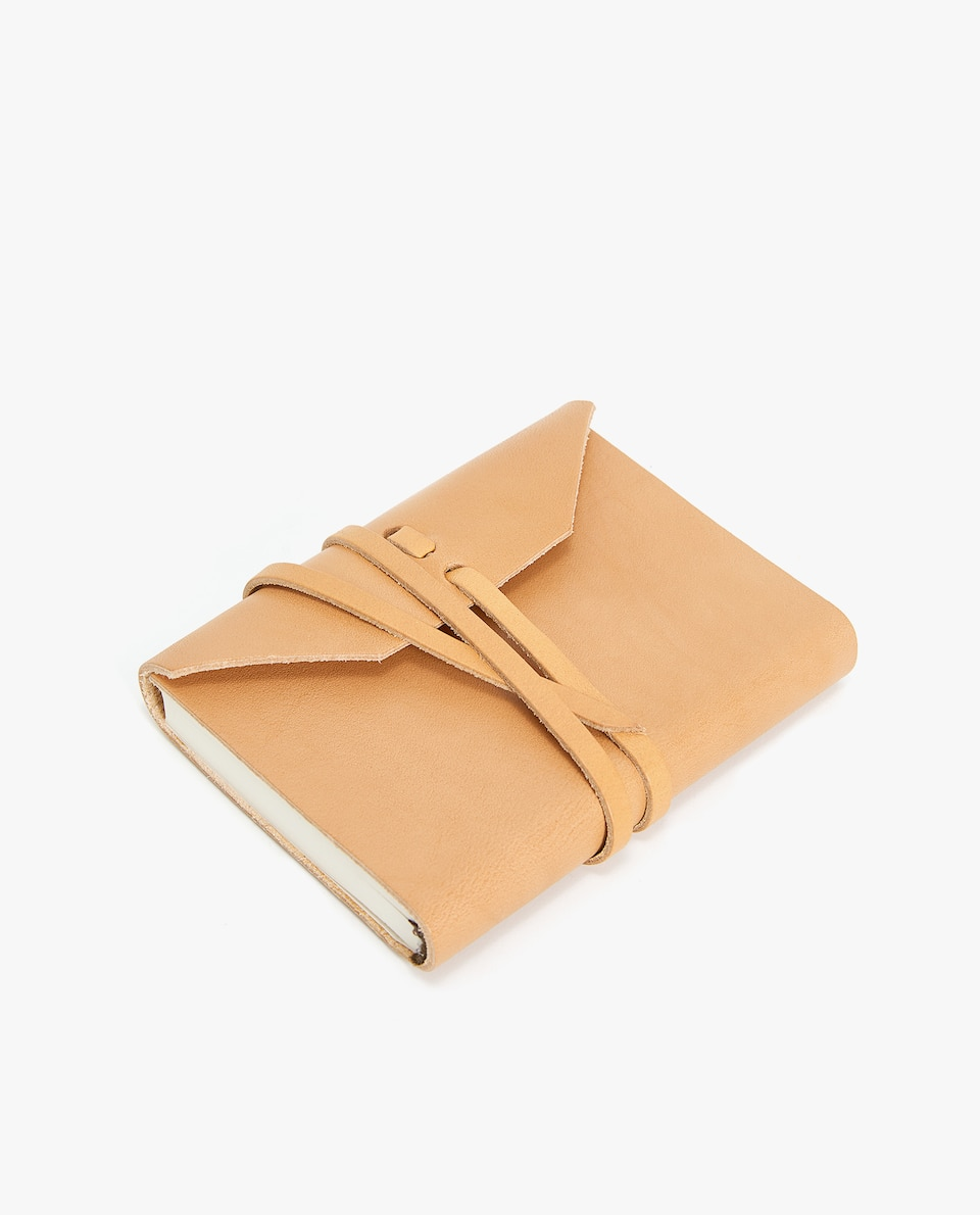 LEATHER NOTEBOOK WITH STRAP