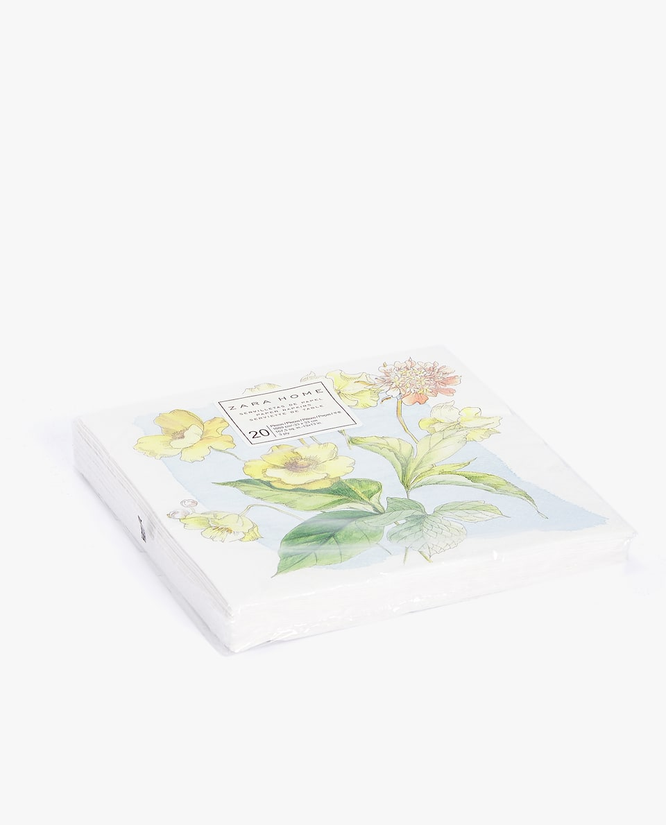 BOTANICAL PRINT PAPER NAPKINS (PACK OF 20)