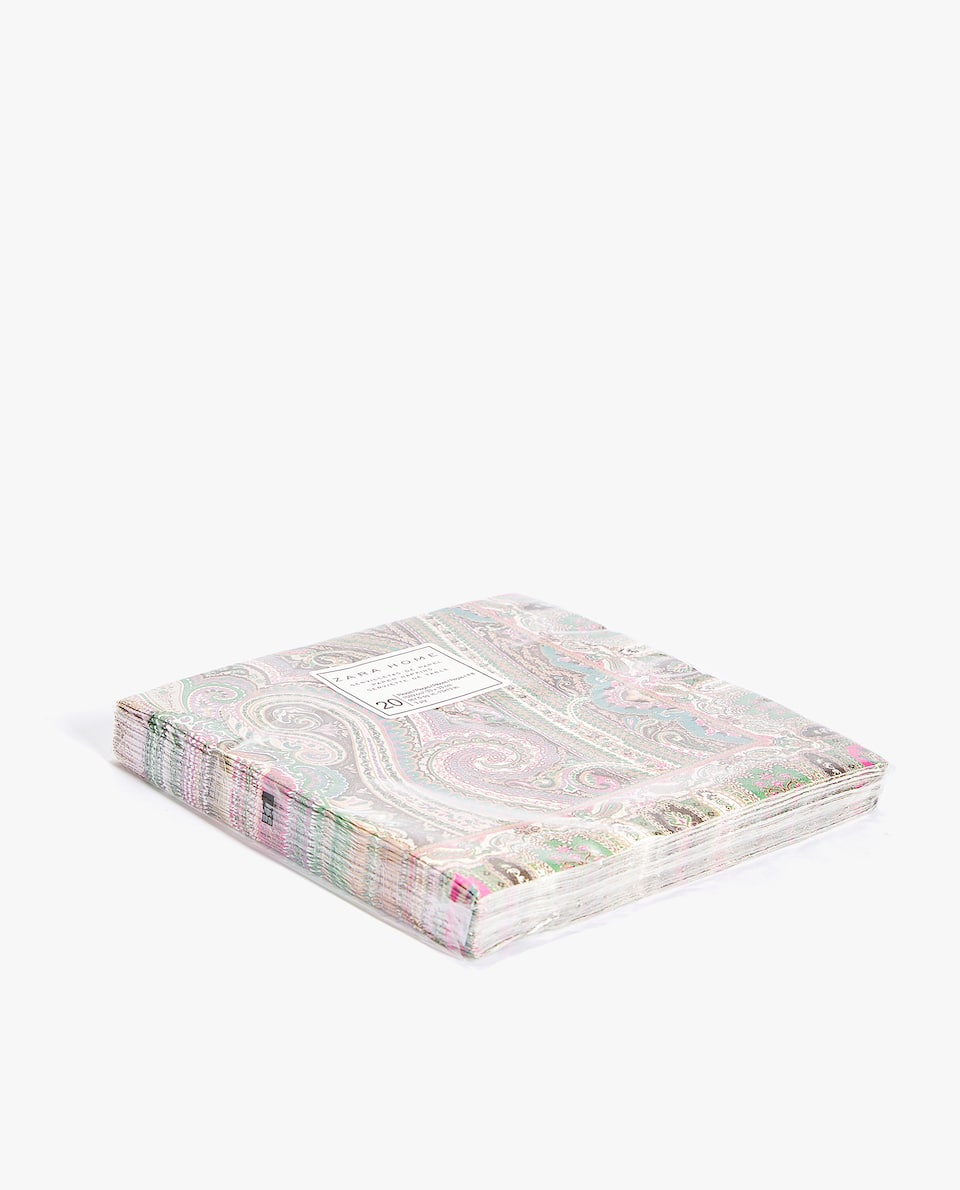 PAISLEY PRINT PAPER NAPKINS (PACK OF 20)