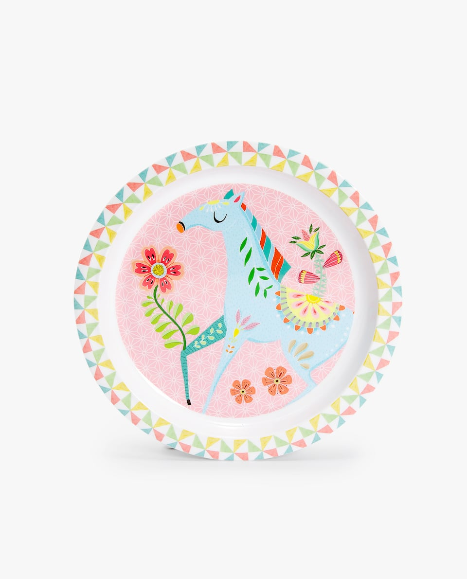 FOREST ANIMALS MELAMINE PLATE