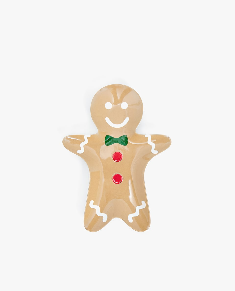 KIDS' MELAMINE MAN GINGERBREAD PLATE