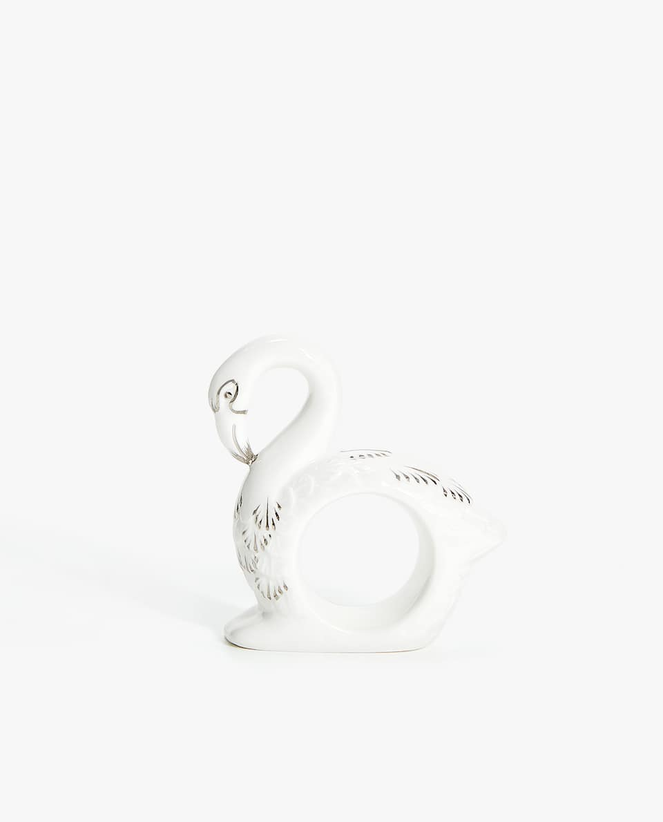 SWAN SHAPED NAPKIN RING (PACK OF 2)