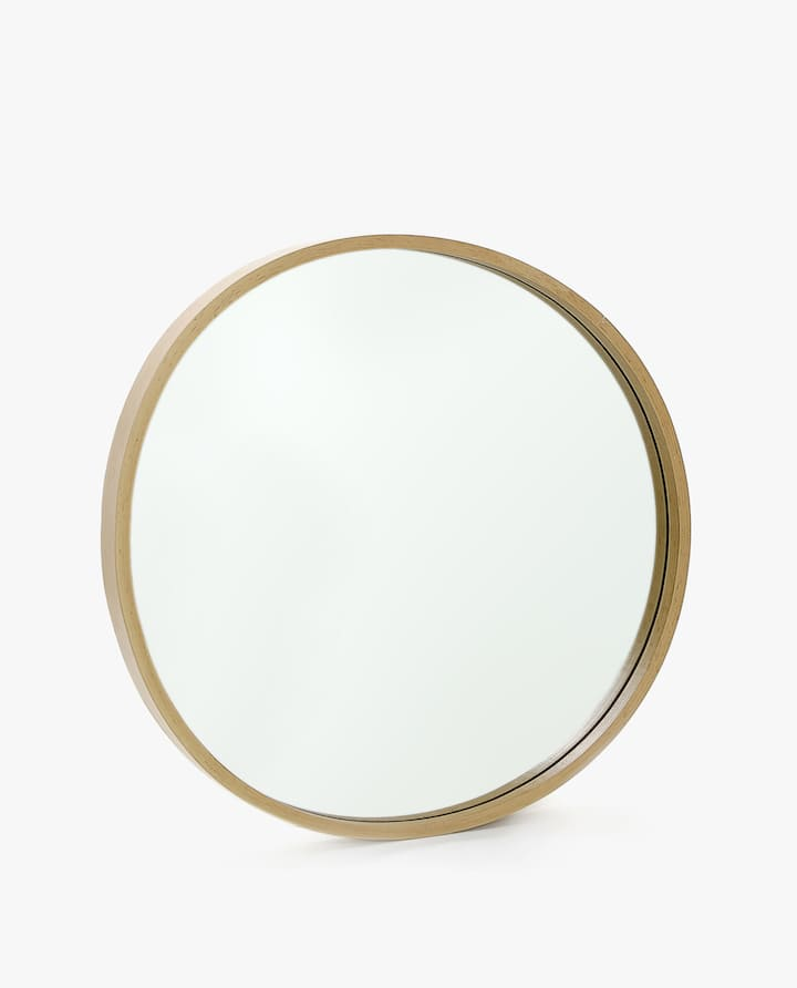 Image Of The Round Wooden Mirror